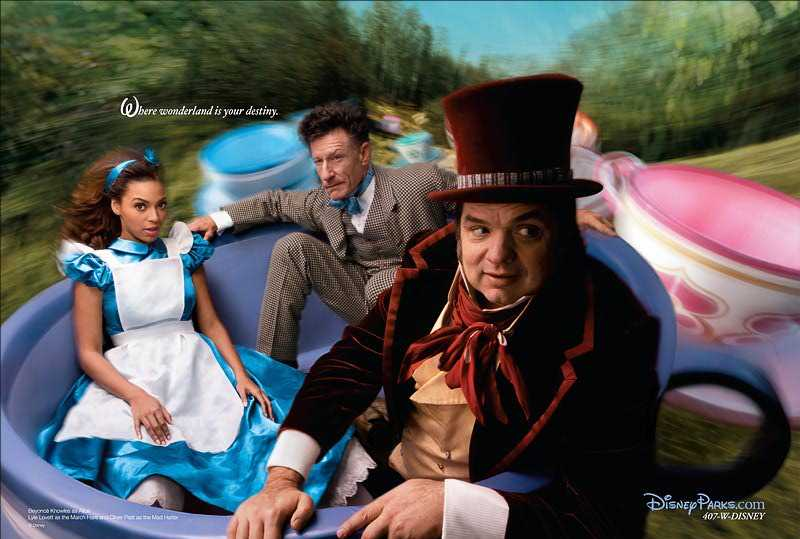 Beyoncé Knowles as Alice, Lyle Lovett as March Hare, Oliver Platt as The Mad Hatter Nerdipop