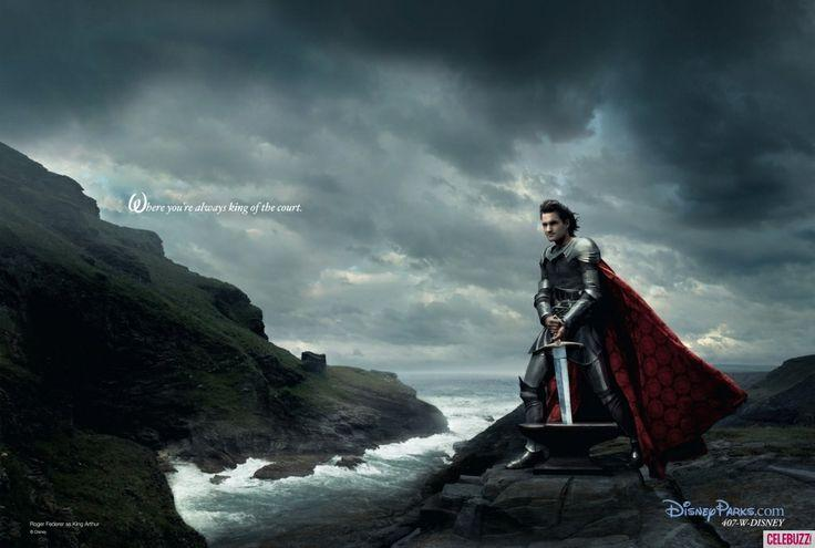 Roger Federer as King Arthur Nerdipop