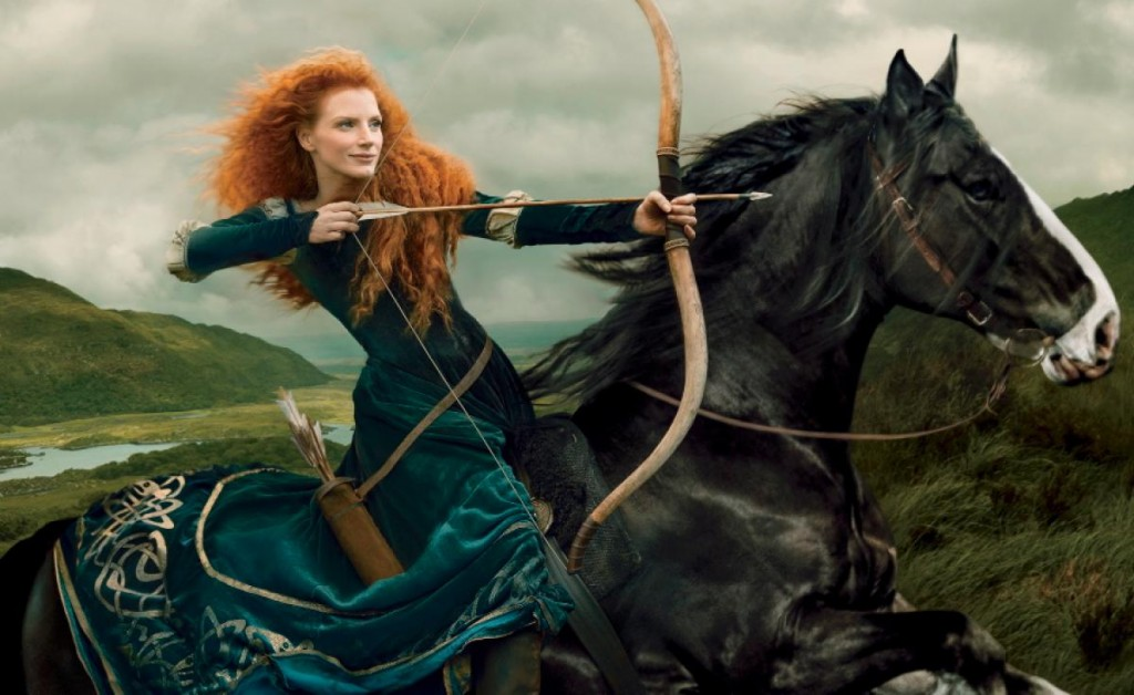 Jessica Chastain as Princess Merida from 'Brave': Disney Dream Portraits Nerdipop