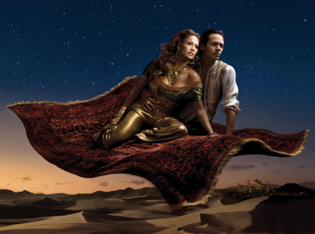 Jennifer Lopez and Marc Anthony as Jasmine and Aladdin Nerdipop