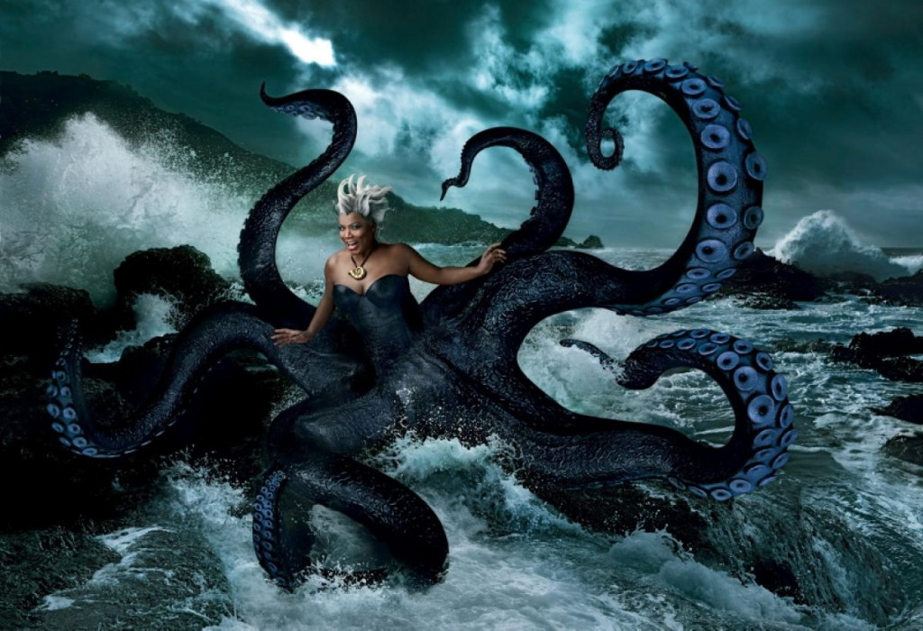 Queen Latifah as Ursula from the Little Mermaid Nerdipop