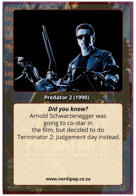 Predator 2 facts
