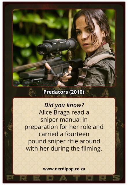 Predators (2010) Facts Alice