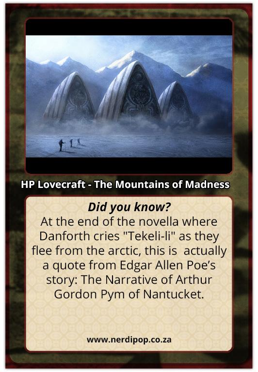 The Mountains of Madness - Del Toro