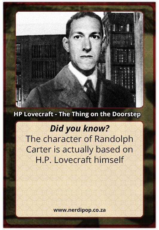 HP Lovecraft Facts - Randolph Carter