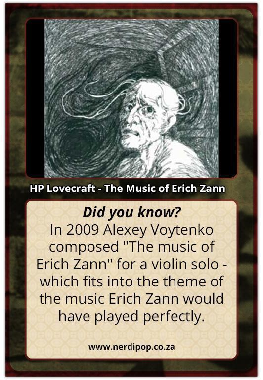 HP Lovecraft Facts - The Music of Erich Zhann