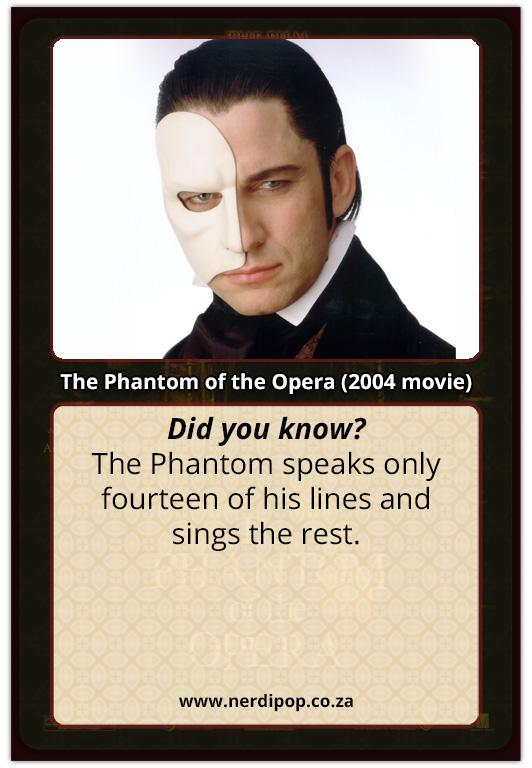 The Phantom Of The Opera Fact Cards