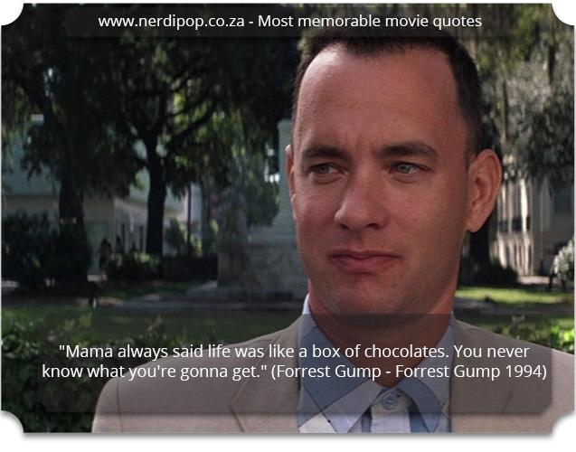 Most memorable movie quotes - Forest Gump Nerdipop