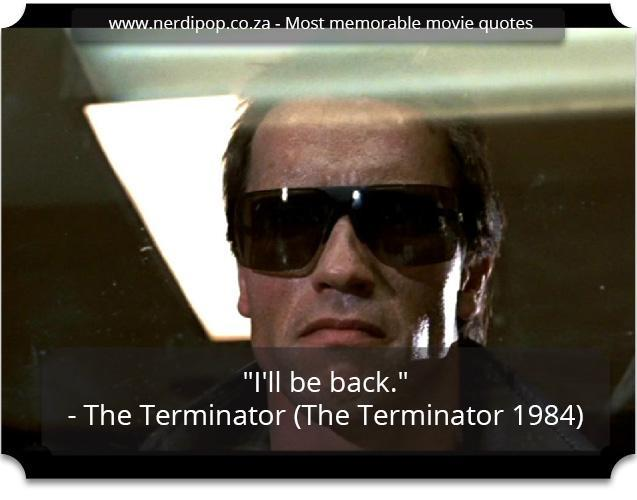 Most memorable movie quotes - Terminator Nerdipop