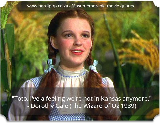 Most memorable movie quotes - Wizard of Oz Nerdipop